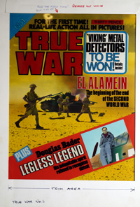 True War First Issue Front Cover art by 20th Century unidentified artist