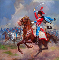 20% OFF ALL MILITARY THEMED ART:  Hussar 12th Regiment by Luis Arcas Brauner