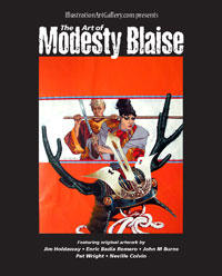 The Art of Modesty Blaise (catalogue of original art for sale) (Limited Edition)