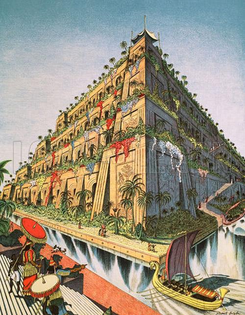 The Hanging Gardens Of Babylon Original Macmillan Poster By Stuart Boyle At The Illustration