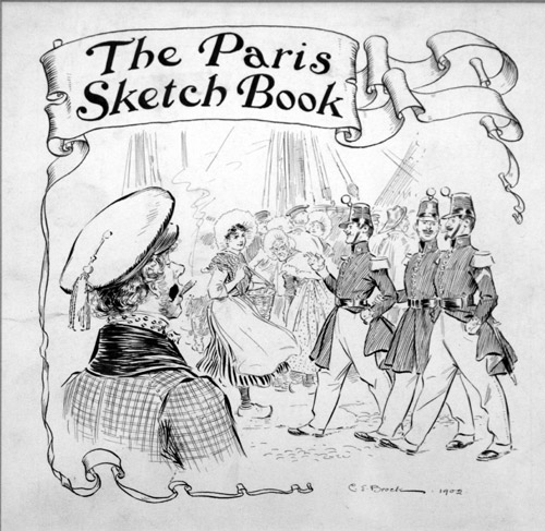 The Paris Sketch Book Title Page By Charles Edmund Brock At