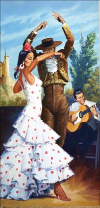 Flamenco Dancing art by Robert Brook