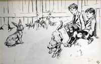 The Dog and the Rabbit art by Gordon Browne