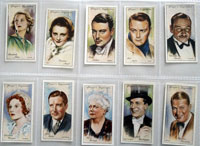 Full Set of 50 Cigarette cards: Film Stars Second Series (1934)