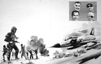 Six Day War art by Graham Coton