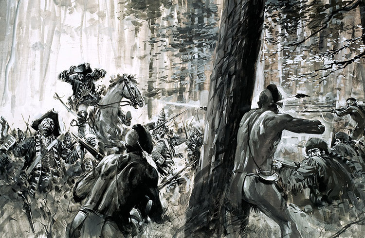 General Braddock Ambushed in 1765 by Graham Coton at the ...