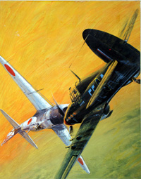 20% OFF ALL MILITARY ART: Valley of No Return cover art Battle Picture Library 431 (Original) (Signed) by Graham Coton