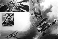 Flying Aces of World War One art by Graham Coton