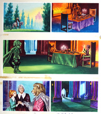 Beauty and the Beast - At The Castle art by Ron Embleton