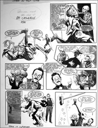 Catweazle - Skeleton in the Closet (TWO pages) art by Gerry Embleton