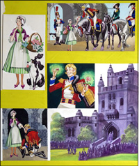 The Flower Girl and the Prince (TWO pages) art by Ron Embleton