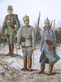 Osprey book illustration Art German Army in WW1 2 art by Gerry Embleton