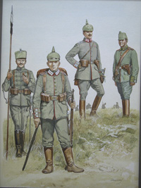 Osprey book illustration The German Army 1914-18 art by Gerry Embleton