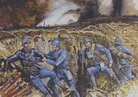 Osprey book illustration The French Army 1914-18 art by Gerry Embleton