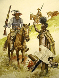 Osprey book illustration Boer Wars 1836-1898 (1) art by Gerry Embleton
