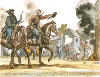 Osprey book illustration American Civil War Guerrillas 1 art by Gerry Embleton