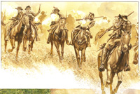Osprey book illustration American Civil War Guerrillas 2 art by Gerry Embleton