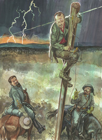 Osprey book illustration American Civil War Guerrillas 3 art by Gerry Embleton