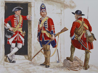 Osprey book illustration Men At Arms Cumberland's Culloden Army 1 art by Gerry Embleton