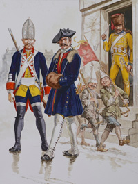 Osprey book illustration Men At Arms Cumberland's Culloden Army 2 art by Gerry Embleton