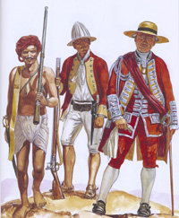 Osprey book illustration Men At Arms Frederick The Great's Allies art by Gerry Embleton