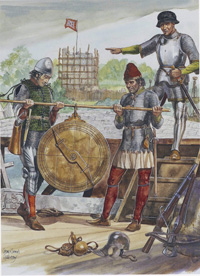 Osprey book illustration Men At Arms Portuguese 1340 art by Gerry Embleton