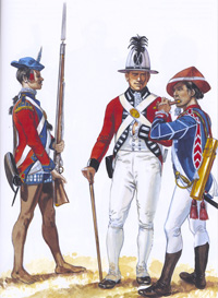 Osprey Men At Arms book illustration Armies of the East India Company 1750 art by Gerry Embleton