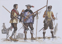 Osprey Men At Arms book illustration The Spanish Tercios 1536-1704 art by Gerry Embleton
