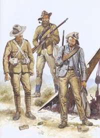 Osprey Men At Arms book illustration Boer Wars 1898-1902 art by Gerry Embleton