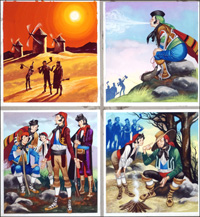 Michael and the Mighty Men - Windmill art by Ron Embleton