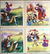 Michael and the Mighty Men - The Race art by Ron Embleton