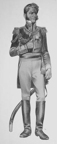 Antonio Lopez de Santa Anna art by Ron Embleton