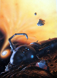 Repair at Black Hole Magazine of Fantasy and SF Cover art by David A Hardy