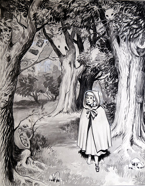 143d79978 Little Red Riding Hood (Original) (Signed) by Don Harley at The Illustration