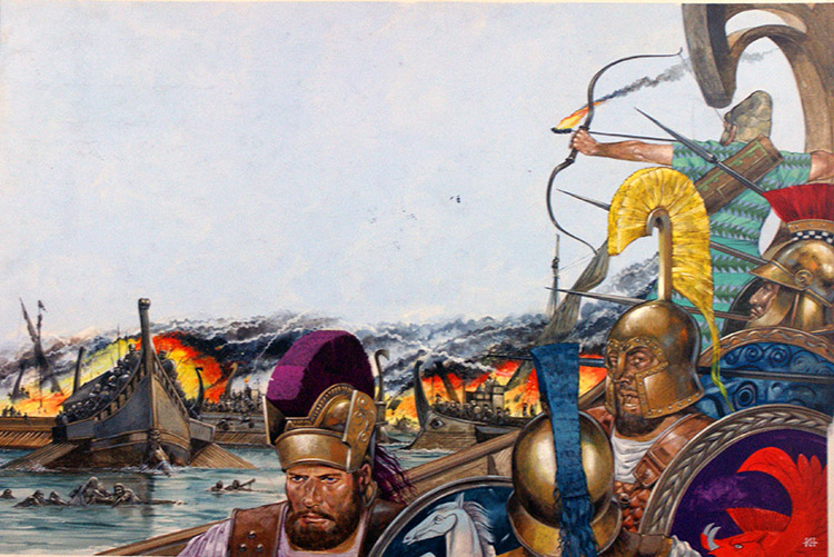 The Battle of Salamis by Richard Hook at the Illustration ...