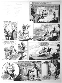 Follyfoot - Fire in the Stables (TWO pages) art by Stanley Houghton