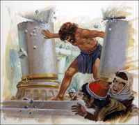 Samson Destroys the Philistines art by Andrew Howat