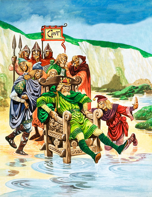 King Canute, or Cnut, or Knut. (Not more bloody history