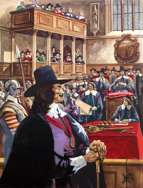 a history of the trial of king charles i The execution of charles i then the king asked the executioner, 'is my hair well' and taking off his cloak and george [the jeweled pendant of the order of the garter, bearing the figure of st george] , he delivered his george to the bishop .