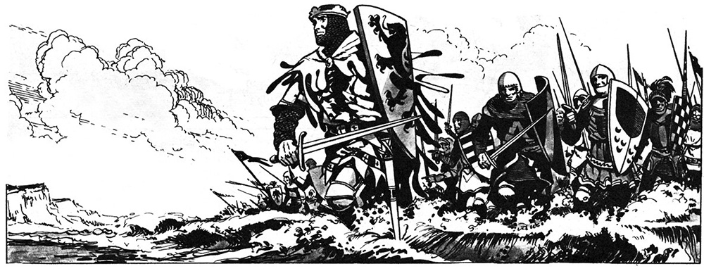 One of the pages from the King Arthur comic strip (click for bigger picture)