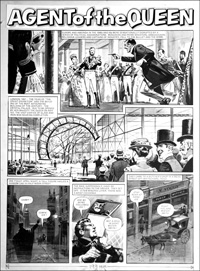 Agent of the Queen - Great Exhibition (TWO pages) art by Bill Lacey