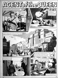 Agent of the Queen - Good Shot (TWO pages) art by Bill Lacey