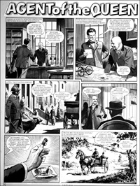 Agent of the Queen - Penny Farthing (TWO pages) art by Bill Lacey