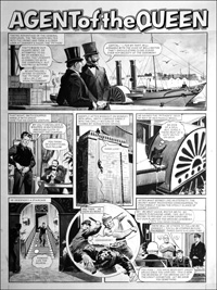 Agent of the Queen - Steam Yacht (TWO pages) art by Bill Lacey