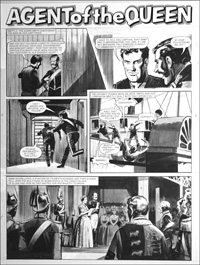 Agent of the Queen - Fanfare (TWO pages) art by Bill Lacey
