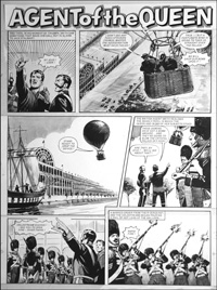 Agent of the Queen - Balloon (TWO pages) art by Bill Lacey
