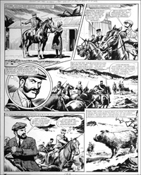 Agent of the Queen - Hunting Boar (TWO pages) art by Bill Lacey