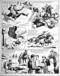 Agent of the Queen - Final Chase (TWO pages) art by Bill Lacey