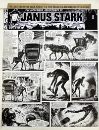 Janus Stark 17th July 1971 art by Francisco Solano López