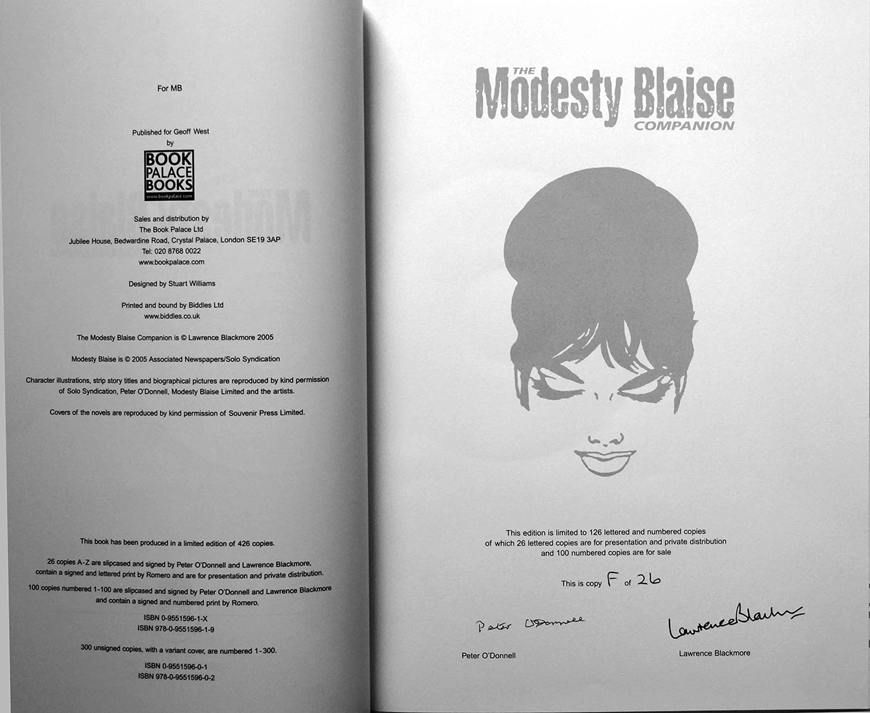 Lettered Signed Title Page (click for bigger picture)